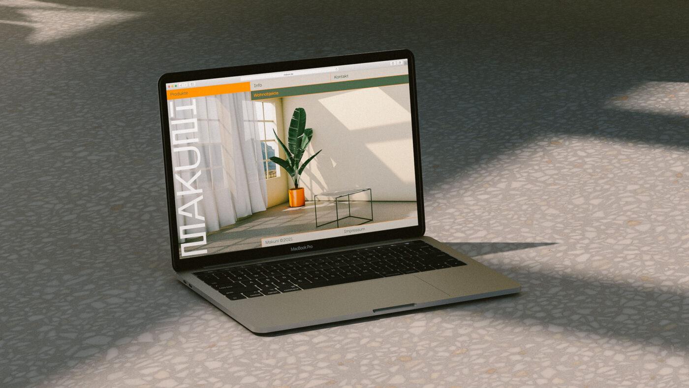 website layout fuer die Firma Makuni aus stuttgart