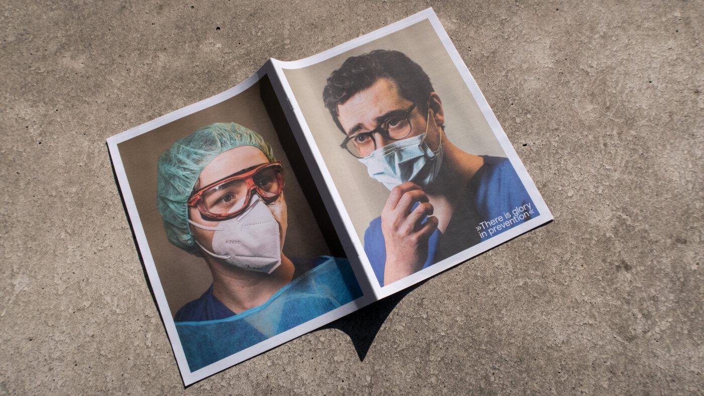corona masken portraits zweier aerzte in stuttgart