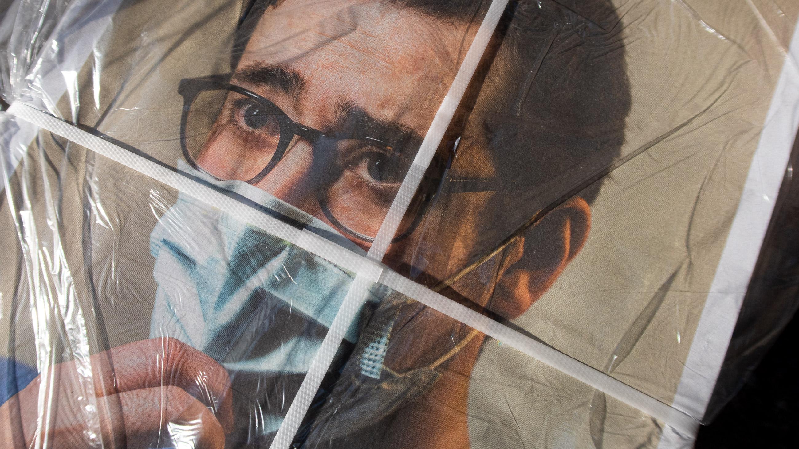 verpackte Zeitung des Stuttgarter Fotografen Patrick junker