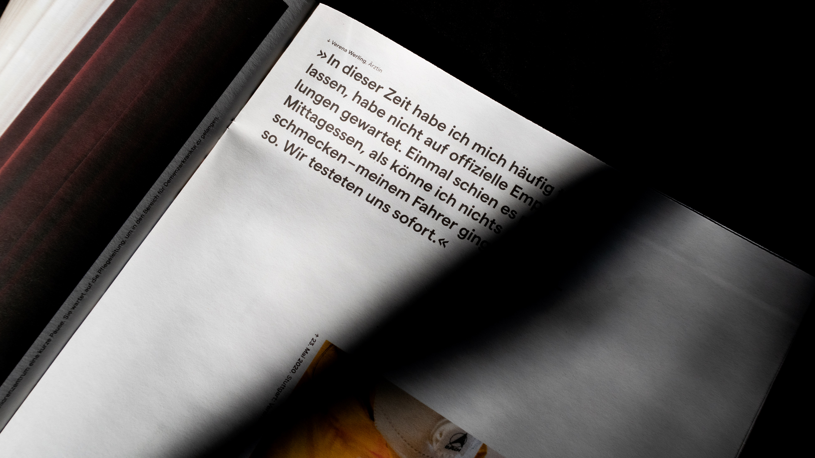 gedrucktes exemplar der Zeitung von Patrick junker