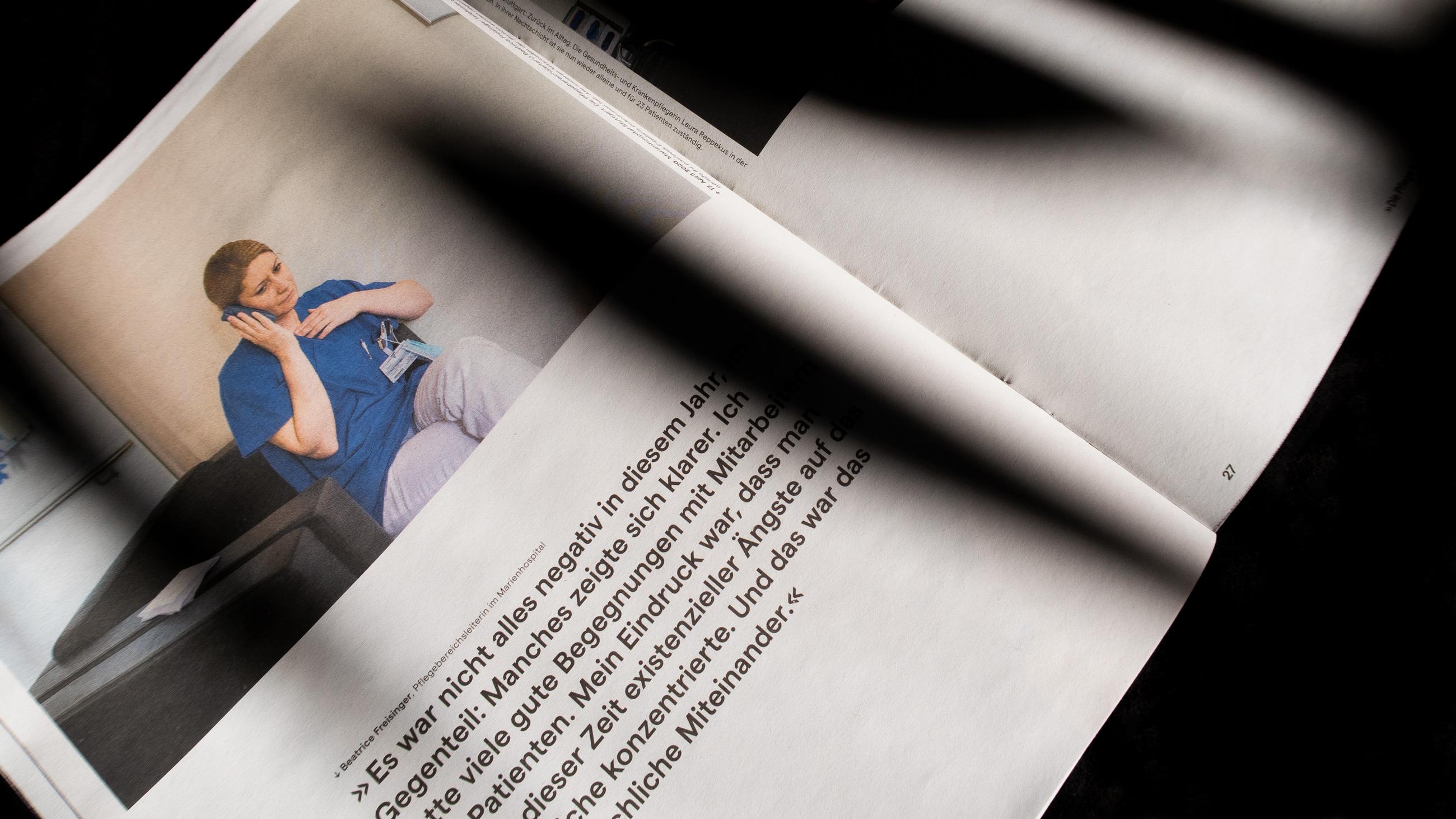 Doppelseite der Zeitung von Patrick junker aus stuttgart