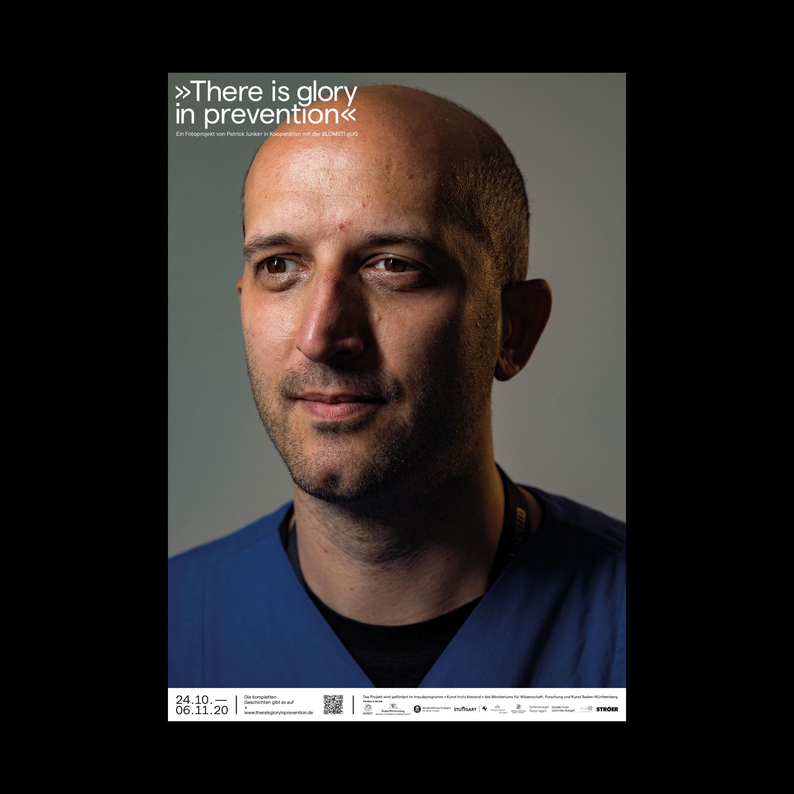 portraits eines Krankenhauspflegers von Patrick junker 2020