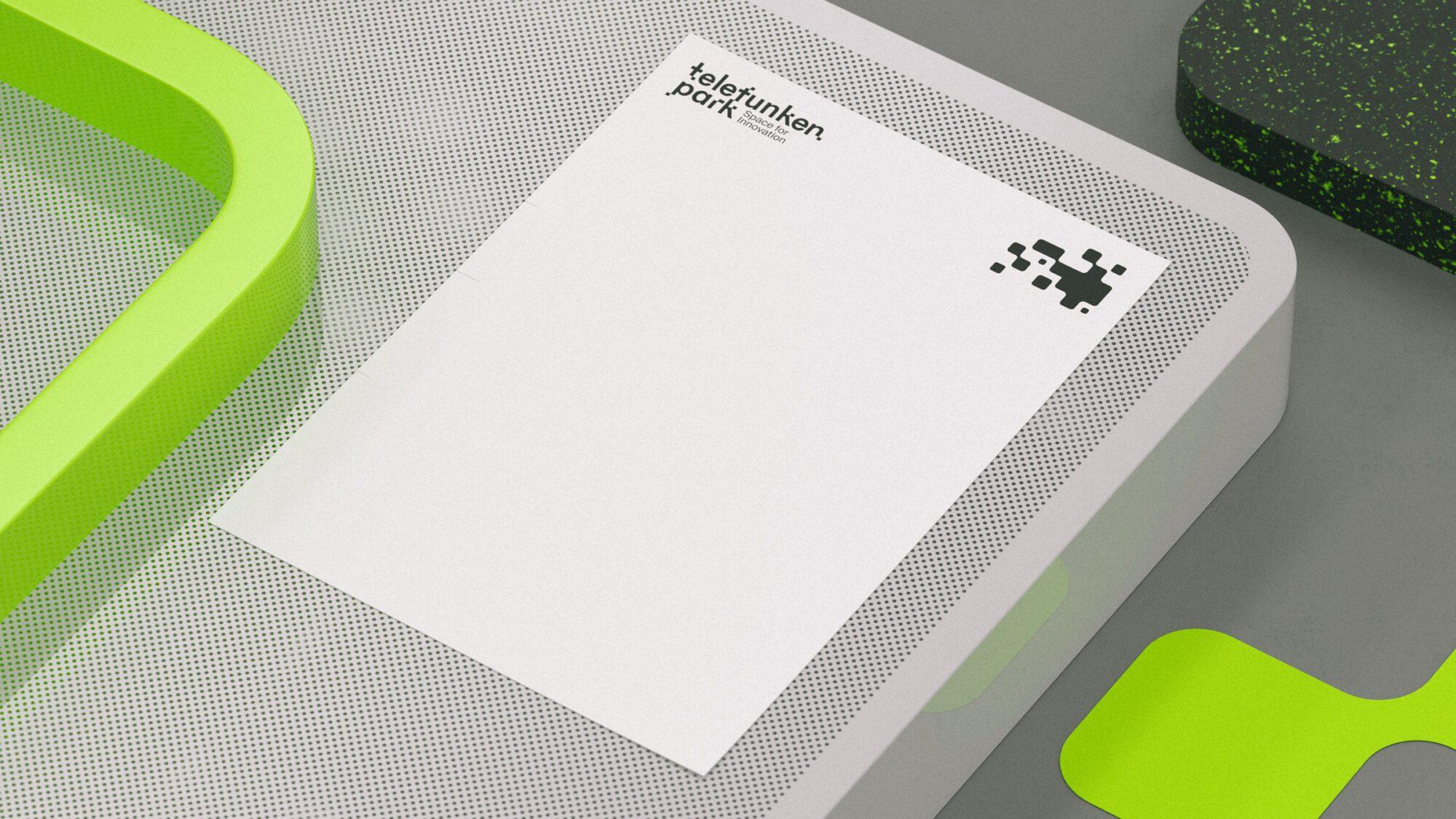 Briefpapier des Technologieparks Telefunkenpark in Heilbronn am neckar