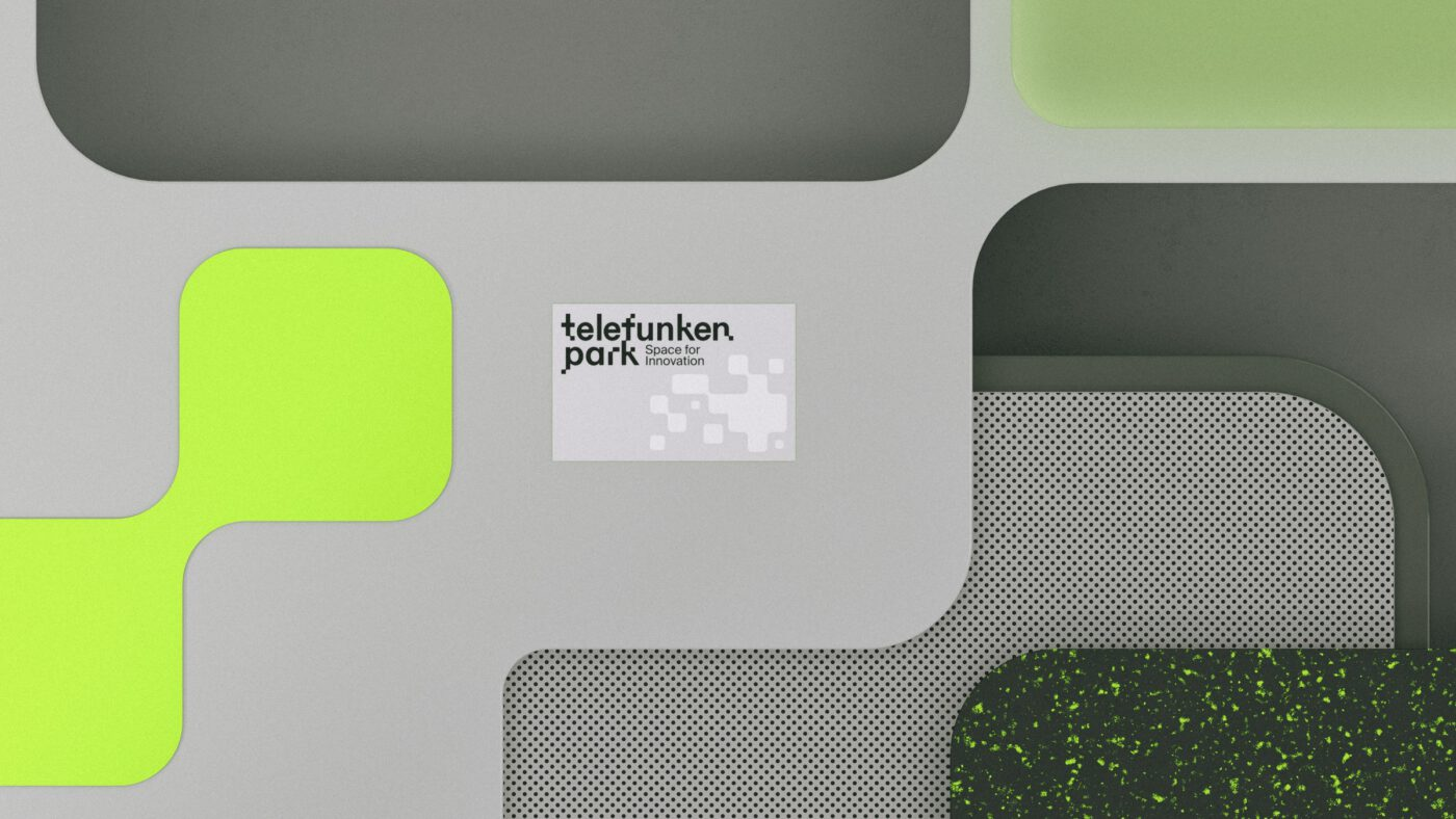 Abbildung einer Visitenkarte des Hochtechnologieparks telefunkenpark in Heilbronn am Neckar