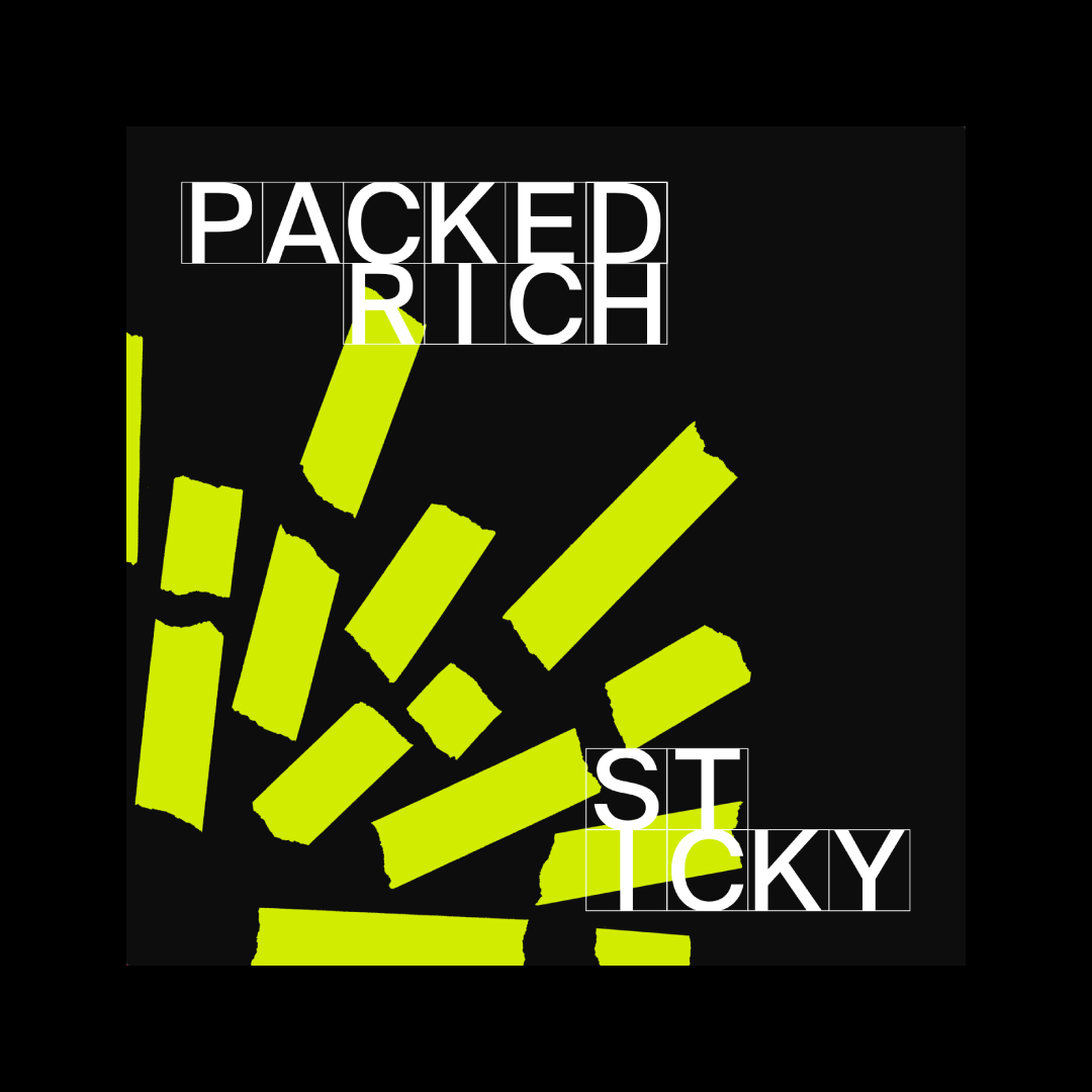 tape art als digitales cover sticky packed rich