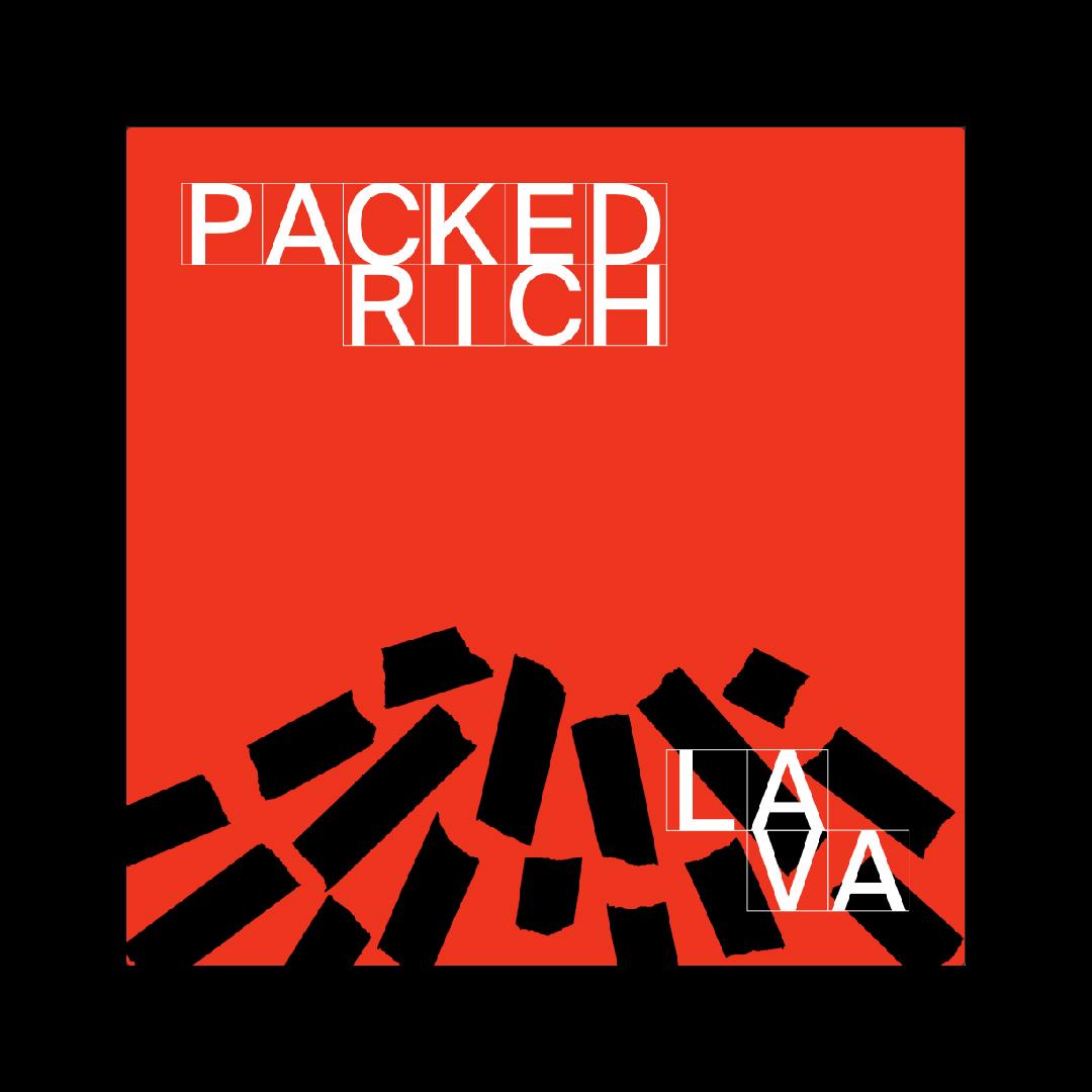 schwarze streifen auf rotem cover