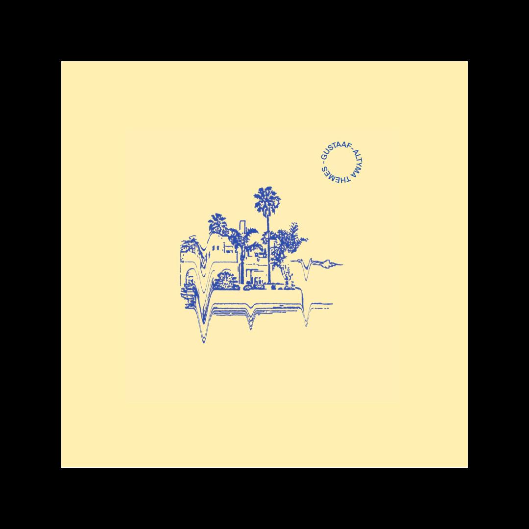 vinylcover für Gustaaf aus Hannover. Palmen Strasse illustration