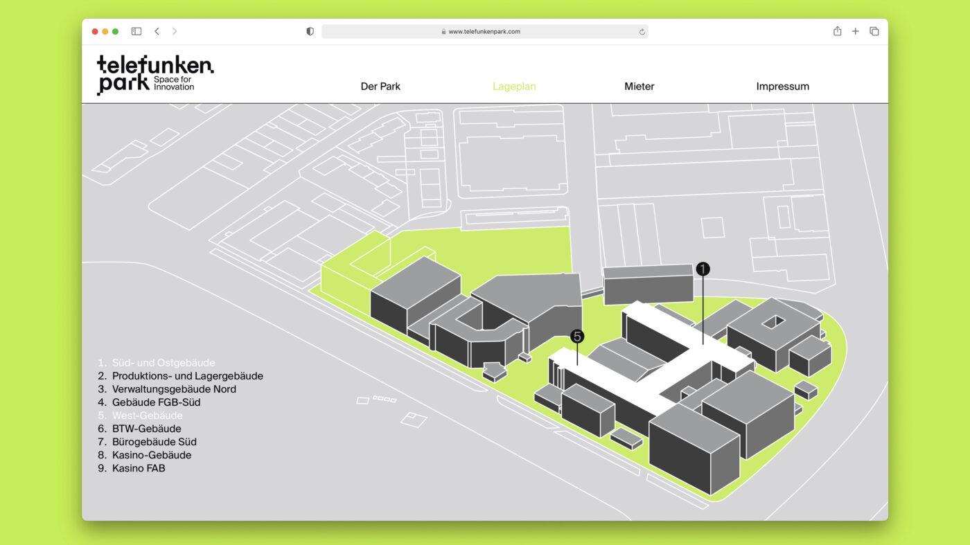 website fuer den Heilbronner Technologiepark telefunkenpark