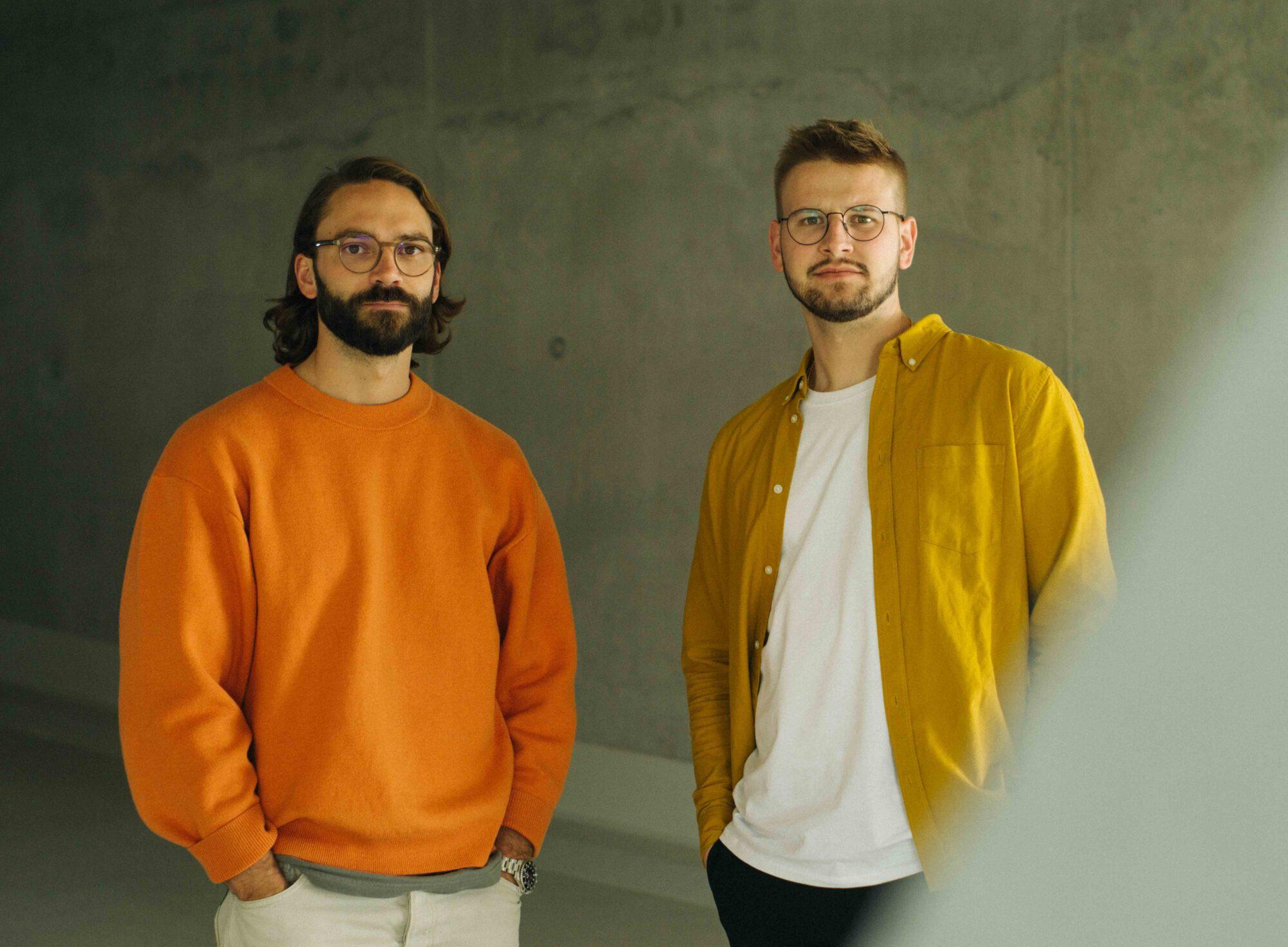 Die Geschäftsführer Christian Nicolaus und Felix Bareis des Studios Bareis + Nicolaus mit sitz in Hamburg und Stuttgart